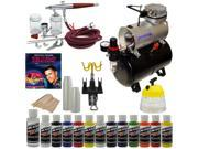 Paasche VL SET Airbrush System Air Compressor Createx Color Paint Kit DVD Hobby