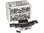 Zebra White Pro Makeup Case Top