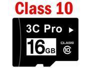 3C Pro 16GB 16G microSD microSDHC micro SD Class 10 C10 Memory Card