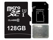 Major OEM 128GB microSDXC UHS-I 70MB/s Class 10 128G microSD micro SD SDXC Flash Memory C10 Card fit Samsung Galaxy S5 SONY Z2 with Multifunction Memory Card Protective Case