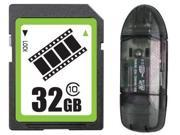 FilmPro 32GB SD 32GB SDHC Card Class 10 Extreme Speed for Camera & Camcorder +R1B Reader