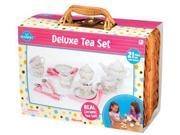 ToySmith Deluxe Ceramic Tea Set with Basket
