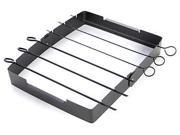 Charcoal Companion Non-stick Kabob Grilling Rack, with Six 14-Inch Skewers