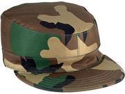 Woodland Camouflage Map Pocket Rip Stop Military Patrol Fatigue Cap