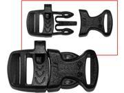 "Black 3/4"" Tactical Jet SR 20 Whistleloc Emergency Whistle Buckle"