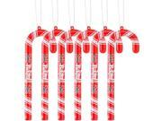 """Nebraska Cornhuskers Official NCAA 5"""" Candy Cane Christmas Ornament Set by Forever Collectibles"""