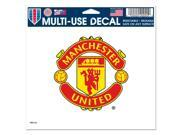 "Manchester United Official SOCCER 4.5""x6"" Car Window Cling Decal by Wincraft"