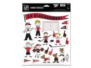 """Chicago Blackhawks Official NHL 11""""x17"""" Family Car Decal by Wincraft"""