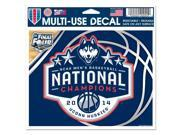"UConn Huskies 2014 NCAA Basketball National Champion 4""x6"" Window Cling Car Decal"