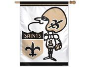 New Orleans Saints Official NFL 27 inch  x 37 inch  Banner Flag by Wincraft