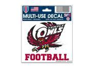 """Temple Owls Official NCAA 3""""x4"""" Car Window Cling Decal by Wincraft"""