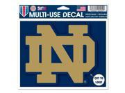 "Notre Dame Fighting Irish Official NCAA 4.5""x6"" Car Window Cling Decal by Wincraft"