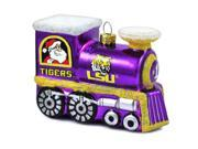 "LSU Tigers Official NCAA 3""x2.5"" Christmas Glass Train Ornament by Topperscot"