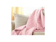 Sunbeam Microplush Electric Heated Throw Blanket Pink 8050-030-700