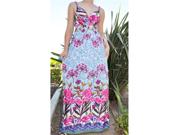Pink Summer Beach Maxi Dress