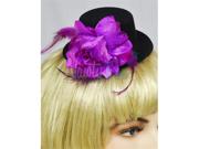 Purple Pin-Up Black Mini Top Hat