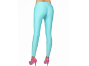 Women's Sky Blue Shiny Spandex Dance Tights Color Leggings