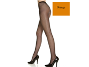 Orange Seamless Fishnet Pantyhose