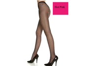 Hot Pink Seamless Plus Size Color Fishnet Pantyhose Stockings, Queen