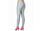Gray/Silver Shiny Spandex Dance Tights Plus Size Leggings