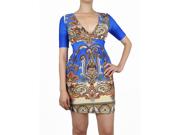 Blue Paisley Half Sleeve Dress