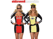 Reversible Drive Me Crazy Taxi Cab Driver Plus Size Racing Girl Costume Costume