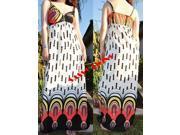 White Rope Strap Summer Maxi  Dress