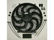 "Speed 2053S Electric Cooling Fan 14"" S-Blade Curved 2000 CFM Reversible"