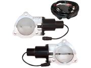 """QTP QTEC70 Dual 3.5"""" 3-1/2"""" Electric Exhaust Cutout Valves"""