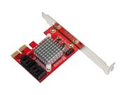 Aleratec Int 4 Port PCI Express 2.0 Sata III 6Gbps Adapter RAID Controller Card