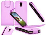 For Samsung Galaxy S4 IV i9500 Vertical Flip PU Leather Skin Protective Case Cover BABY PINK