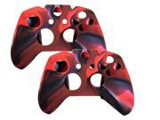 2 Pack Camouflage Silicone Cover Case Skin for Xbox One Wireless Controller skin case - Red