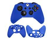 Silicone Soft Gel Rubber Super Hand Grip Case Cover Skin for Microphone Xbox One Game Controller - Blue Color