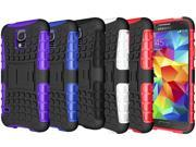 For Samsung Galaxy S5 Case Armor Hybrid Heavy Duty ShockProof Impact Hard Soft Case Cover Kickstand Defender Clip Protect Galaxy S5 SV i9600 - 5 Color's Select