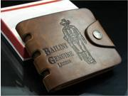 New Brand Cow Leather Bailini Men's Boy's Bifold Wallet Purse Card Holder-Brown