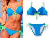 New Fashionable Hot Look 2pcs HOTSEXY Women Bikini Set Push-up Padded Bra Swimsuit Bathing Suit Swimwear Medium
