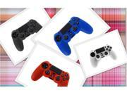 Bulk Lot 4pcs - Silicone Case Cover for Sony PS4 Concroller - Black Blue Clear Red