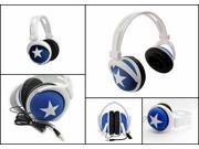 Blue - 3.5mm Foldable Stereo Headset Headphone Over-Ear Earphone for Laptop Desktop Mac PC MP3/6 DJ iPhone iPad Samsung Galaxy HTC