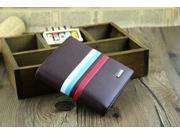 New Men's Leather Bifold Credit/ID Cards Holder Purse Wallet Billfold Clutch - Brown