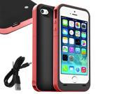SmackTom 2500mAh External Backup Power Battery Charger Case Cover For Apple iPhone 5 5S