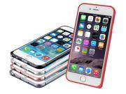 """Red - Ultra-thin Aluminum Buckle Open Metal Bumper Case Cover For iPhone 6 4.7"""" - Colors Available"""