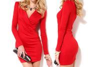 Party Cocktail Mini Dress For Women Bandage Bodycon Long Sleeve Evening Dress