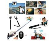 New Bluetooth Shutter Selfie Extendable Handheld Stick Monopod for Smartphone - Colors Available