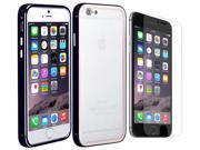 Luxury Aluminium Black Case Cover Apple iPhone 6 PLUS (5.5) + Anti Glare Screen Protector