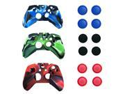 Camo Soft Silicone Rubber Case Skin Grip Cover For Xbox One Wireless Controller 3 Color Combo
