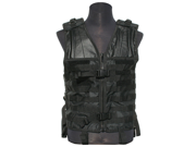 GXG Paintball Tactical X Lightweight Molle Vest w/ 11 Attachments - Black