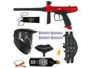 Tippmann Gryphon Paintball Marker Gun 3Skull 4+1 BC Mega Set - Red