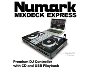Numark Mixdeck Express DJ Controller with CD/USB DJ Software Computer Controller & I/O Package