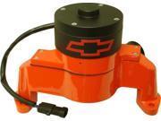 Proform 141-675 Chevy Bowtie Emblem B/B Aluminum Electric Water Pump, Aluminum