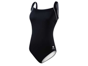 Tyr Solid Square Neck Tank Female Black 22